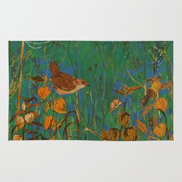 Winter Glimpses - Wren and Physalis Rug