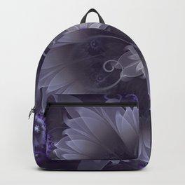 Amazing Fractal Triskelion Purple Passion Flower Backpack