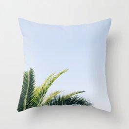 Green Palm Tree Throw Pillow