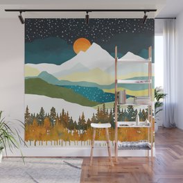Winters Night Wall Mural