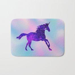 Purple Sparkly Unicorn Bath Mat