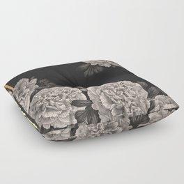 Flowers on a winter night Floor Pillow