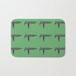 Uzi submachine gun Bath Mat