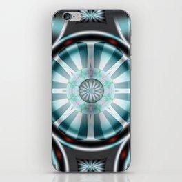 Pinwheel Hubcap in Aqua iPhone Skin