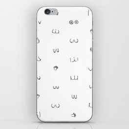 butts and boobies iPhone Skin