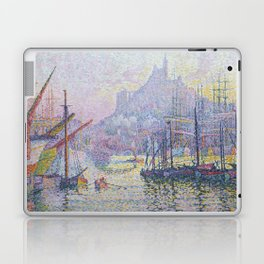 View of the Port of Marseilles Laptop & iPad Skin