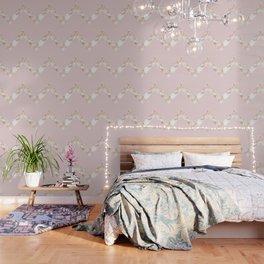 Queen pink - rose gold chevron Wallpaper