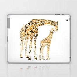 family girrafes, watercolor Laptop & iPad Skin