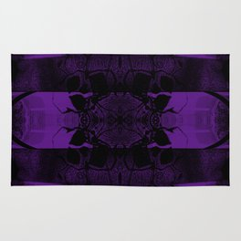 Transmitting Craniums [Purple] Rug
