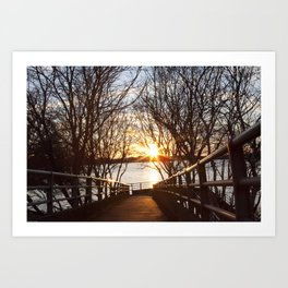 Boston Harbor Sunset Art Print