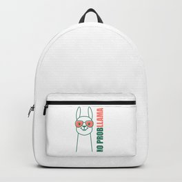 Llama, Alpaca design. No ProbLlama trendy gift. Backpack