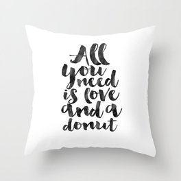 CRAZY CAT LADY, Cat Meow,All You Need Is Love And A Cat,Funny Print,Gift For Her,Women Gift,Cat Quot Throw Pillow