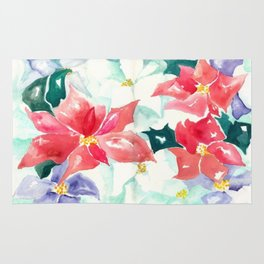 Poinsettia Cheer Rug