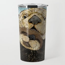 Sea Otter Mother and Baby Travel Mug