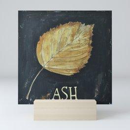 Hand-Painted Fall Ash Leaf Mini Art Print