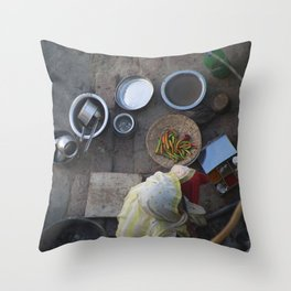 Learning to Cook from Above Throw Pillow
