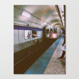 Blue Line Canvas Print