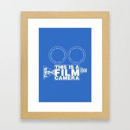 I Love Cinema Framed Art Print