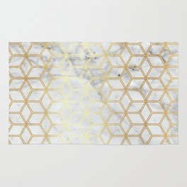 Hive Mind - Marble Gold #510 Rug