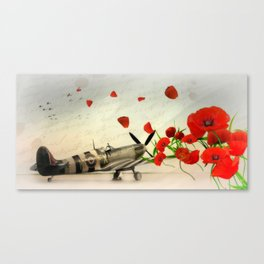 Fighter Command Tribute - Spitfire Canvas Print