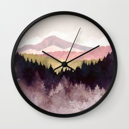 Plum Forest Wall Clock