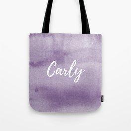 Carly Plum Watercolor Tote Bag