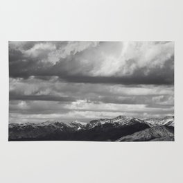 Black and White Mountains Rug