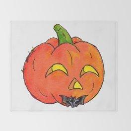 Pumpkin Groom Throw Blanket