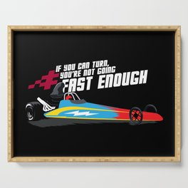 Drag Racing Gift: Not Going Fast Enough I Car Enthusiasts Serving Tray