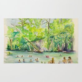 Krause Springs - historic Texas natural springs swimming hole Rug