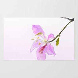 purple Buahinia Rug