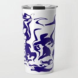face9 blue Travel Mug