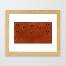 Foxy! Framed Art Print