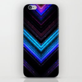 Sparkly metallic blue and purple galaxy lines iPhone Skin