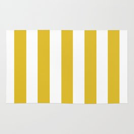 Durian Yellow - solid color - white vertical lines pattern Rug