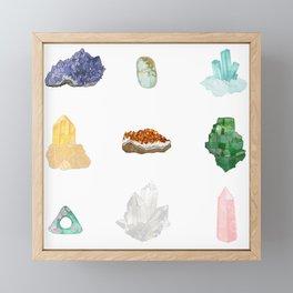 Gemstones Framed Mini Art Print