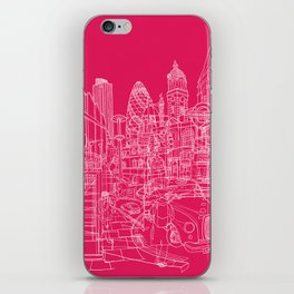 London! Hot Pink iPhone Skin
