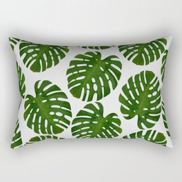 Monstera Leaf III Rectangular Pillow