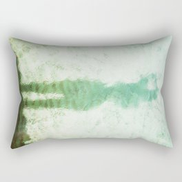 The Green Hourglass Rectangular Pillow