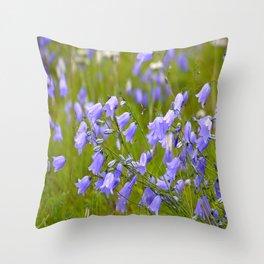 Bluebells Meadow #decor #society6 Throw Pillow