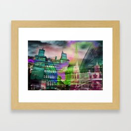 Coloured Layers - City Framed Art Print