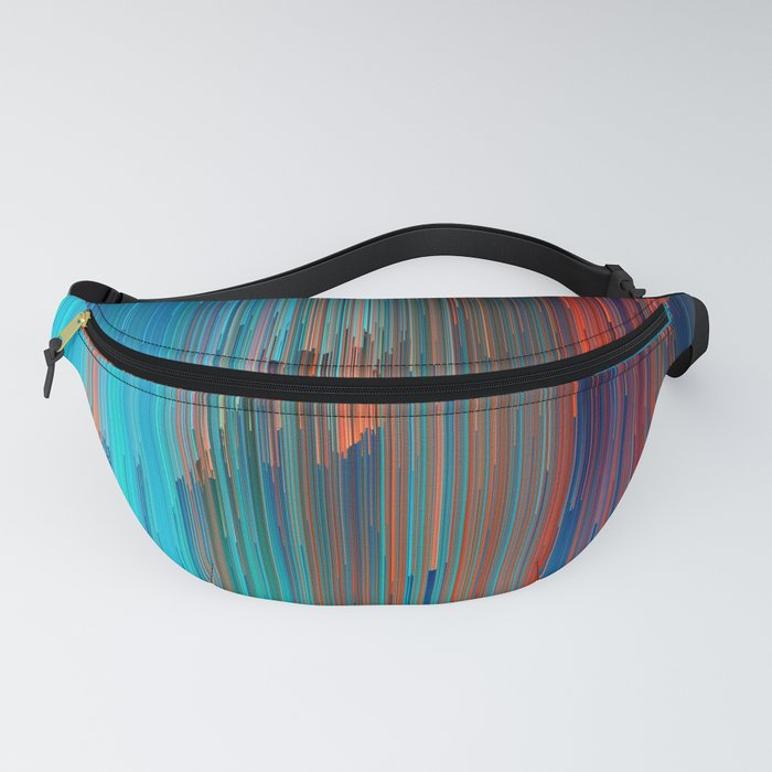 All About Us - Abstract Glitch Pixel Art Fanny Pack