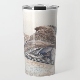 Snowy Plover broken wing distraction display Travel Mug
