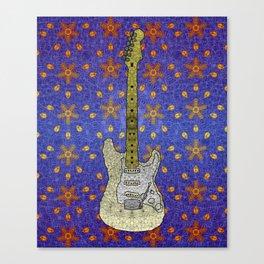 White Strat Canvas Print