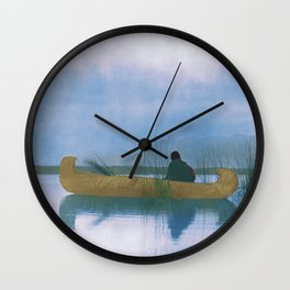 Kutenai duck hunter - American Indian Wall Clock