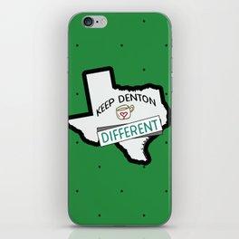 Keep Denton Different iPhone Skin