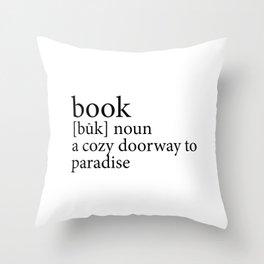 419 4 Book Definition Throw Pillow