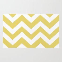 Hansa yellow - beije color - Zigzag Chevron Pattern Rug