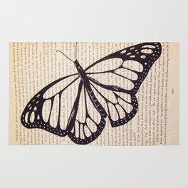 Butterfly in a Book Rug