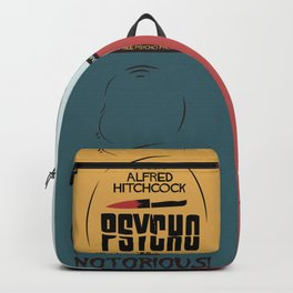 Four Hitchcock movie poster in one (Psycho, The Birds, North by Northwest, Notorious), cinema, cool Backpack
